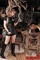Mistress Adryella spanks & fucks her slave