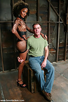 Shemale Mistress Soleli Sucked By Bondaged Slave
