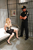 Blonde dominatrix fucks & fingers slave