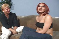 Redhaired Tranny Deepthroats & Assfucked