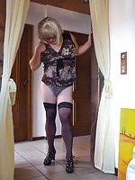 Chubby mature transvestite
