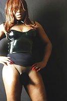 Ebony American Tranny Does Fetish