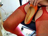Meine orangen Heels