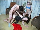 Threesome with two crossdressers