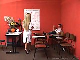Dirty teacher tgirl seduces a student