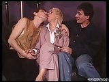 Dirty mature threesome with horny crossdresser