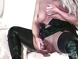 Hot blonde slut with huge boobs