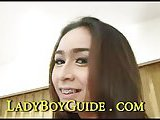 Petite ladyboy gets her ass stuffed