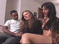 Tranny and girl please a black stud