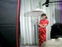 Asian Ladyboy Posing To Photographer