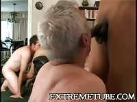 Two Trannies For Home Orgy