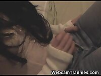 Tranny Teen in Jeans Plays on Cam