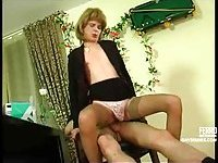 Blonde CD banged in office