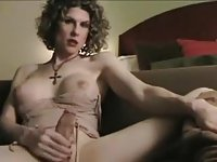 Look at this burnning busty tranny milf!