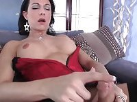 Sexy lingeried tranny is lonely