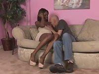 Sweet ebony Tgirl ramming