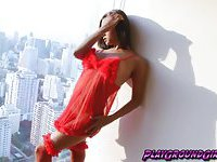 Ben T on Red Lingerie Pumping her Dick