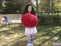 TS cheerleader Penny Tyler banged in ass