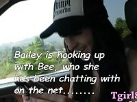 Shemales Bailey Jay n Bee Armitage anal