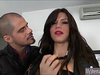 Sexy huge boobs tranny Danielly Colucci analed by dude