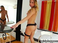 Tranny girl Rakel Rodriguez loves to masturbate her cum load