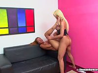 Two hot blond shemales fucking