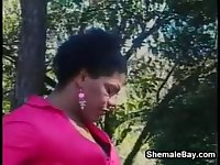 Shemale Banging Outdoors