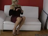 Solo Blonde CD with sex toy