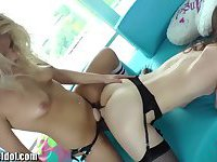 Seductive Tgirl and her lover chick