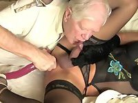 Old Guy Toying Tranny Ass