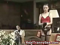 Asian crossdresser fucks guy