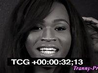 Black tranny facializes