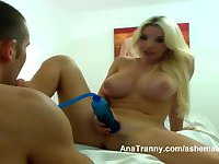 Ana Mancini Masturbates With A Cock Pump While She Films Herself