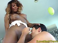 Black sexy tranny face drenched