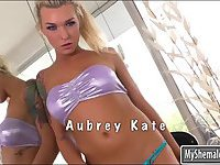 Luscious shemale Aubrey Kate ass fucked
