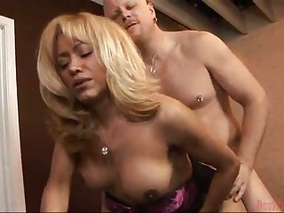Very pretty blonde enjoys being ass fucked