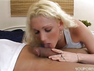 Blonde tranny takes it with pleasure