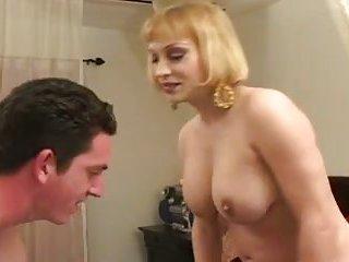 Busty blonde milf buttfucked