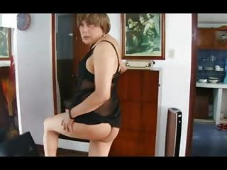 Mature crossdresser sucks and fucks with a pleasure