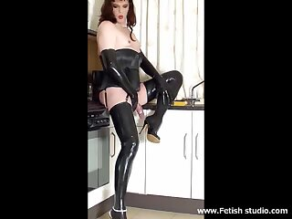 Horny CD in stockings compilation