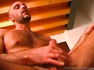 Awesome latina shemale makes a chap burning