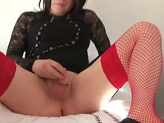 Emma Lee - CD Transvestite Stockings Tease