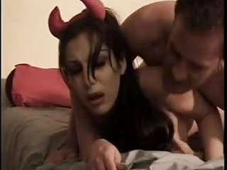 Devil tranny ass fingered & dicked