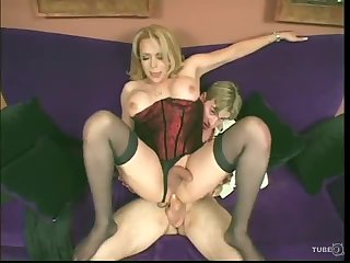 Sexy blonde Tbabe ass stuffed with a dick