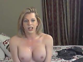 Titty Blonde Shemale Solo Masturbation