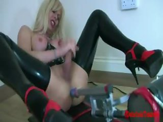 Joanna Jet plays with toy