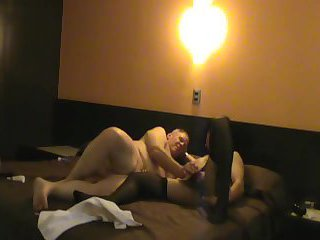 Zandra Yvonne Caresses the big, thick cock of his male and relaxes his ass with sex toys