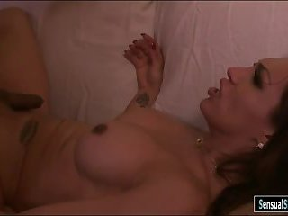 Busty latin tranny gets her ass reamed